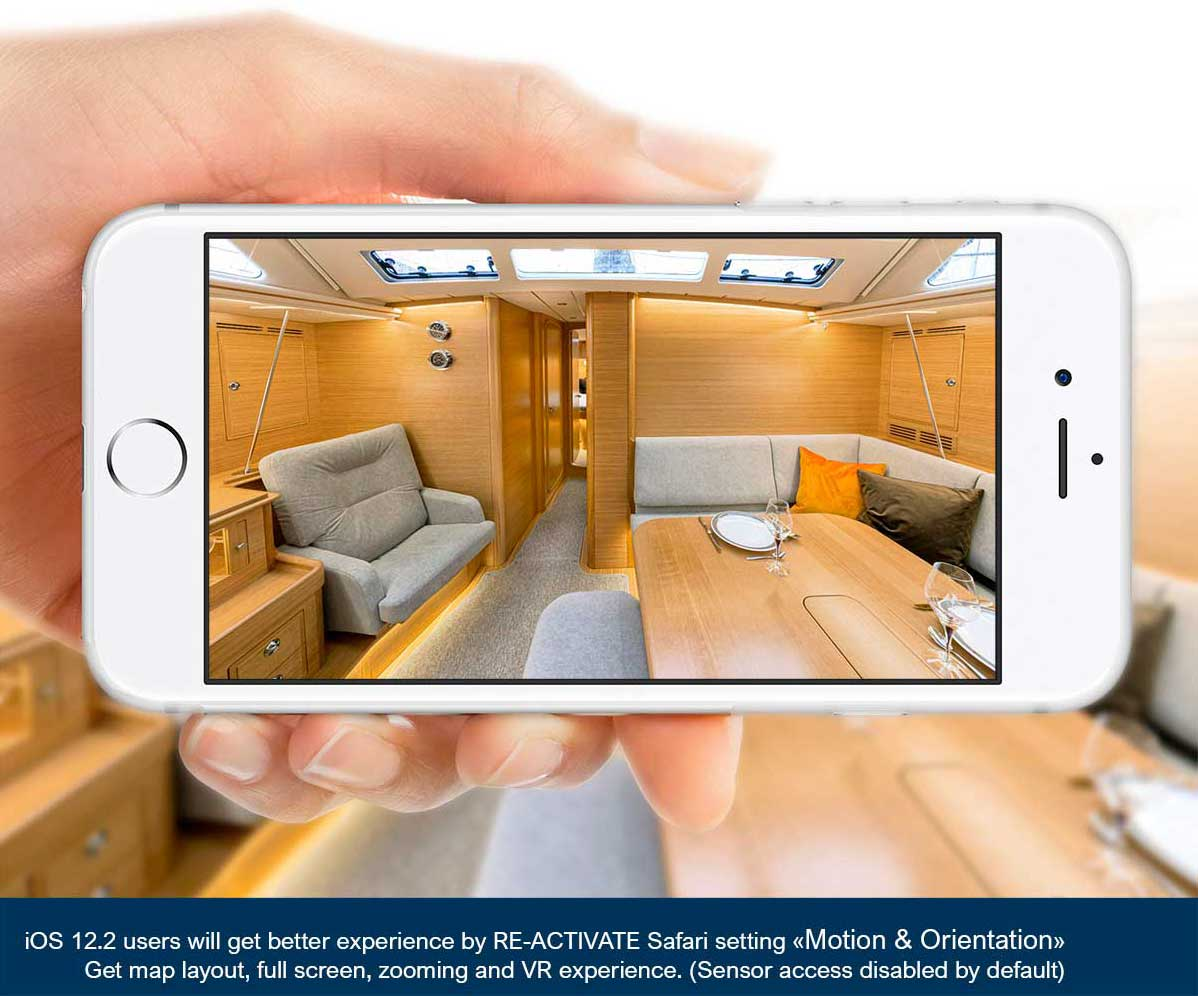360 degrees virtual reality view of the all-new Hallberg-Rassy 50